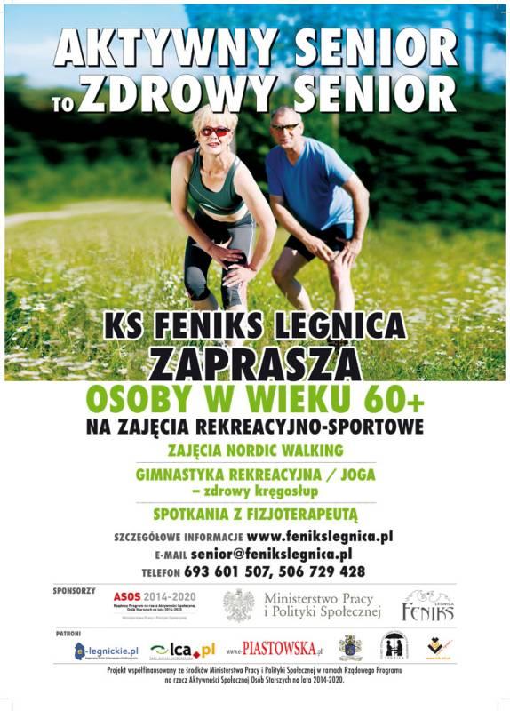 Polskie Stowarzyszenie Szczęśliwych Emerytów w Legnicy - plakat Aktywny Senior