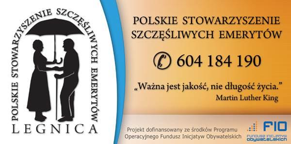 Stowarzyszenie Szczęśliwych Emerytów Legnica - ulotka